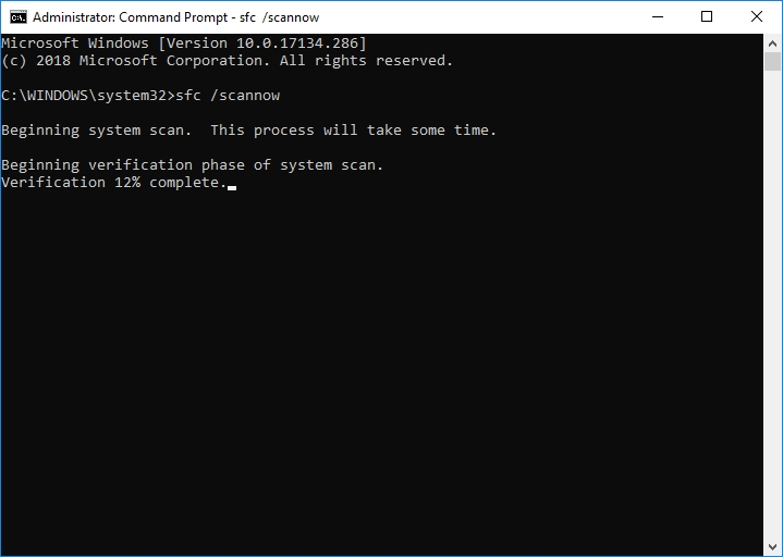 Type sfc /scannowinto the Command Prompt window.