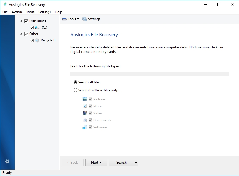 You can easily recover your files if need be.