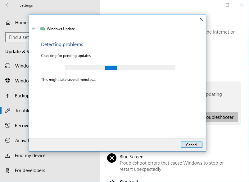 Troubleshoot your Windows Update problems