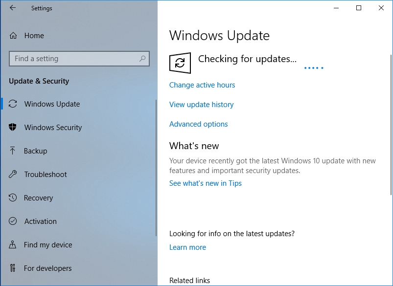 Make your OS check for available updates.