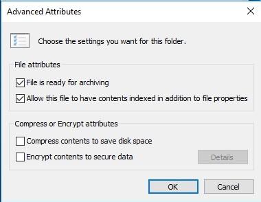 Enter Advanced Attributes