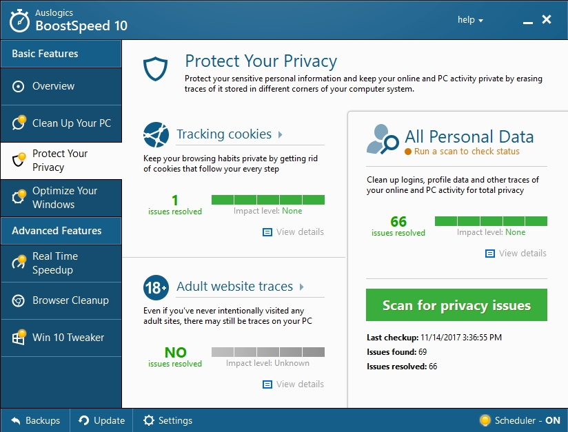 Protect your privacy and improve your PC performance