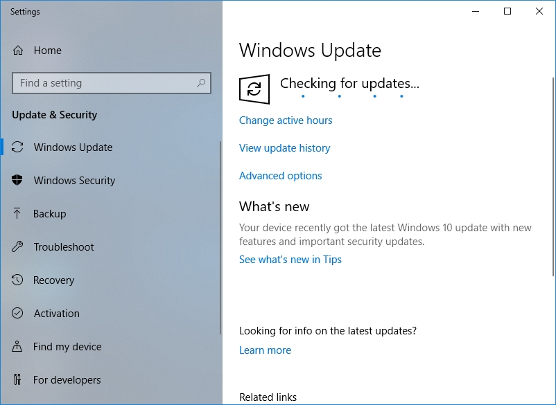 Check for updates to update your OS