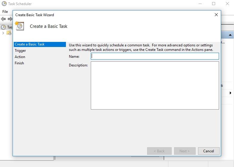 Select Create a basic task.