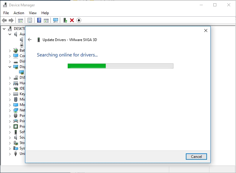 Let Windows search for the necessary drivers online.