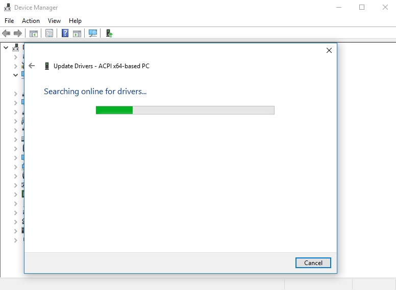 Device Manager will update your drivers