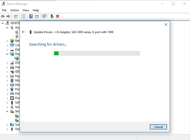 Windows will search for the ncecessary drivers online.