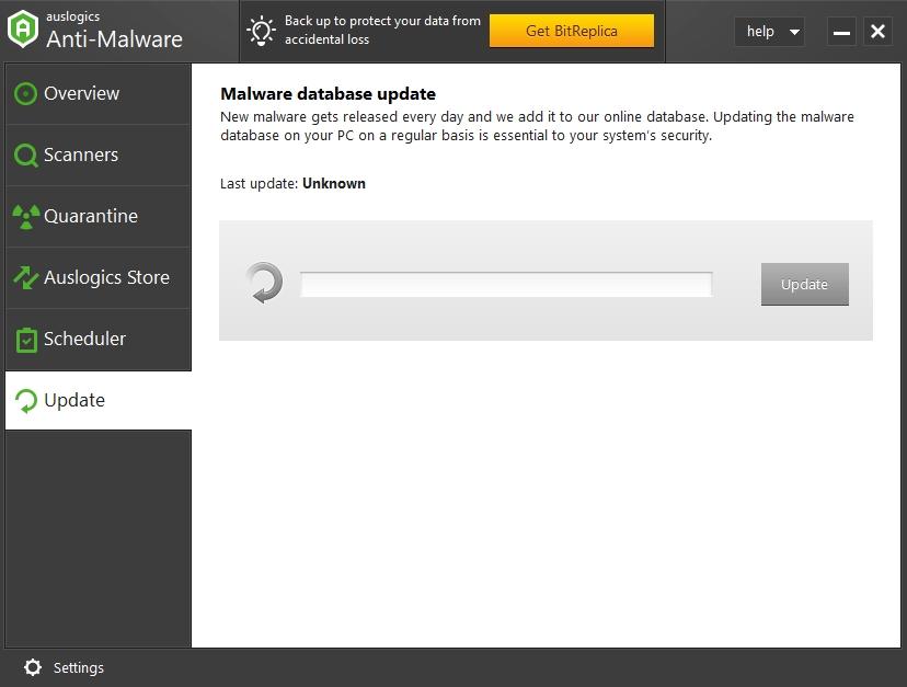 Auslogics Anti-Malware's antivirus database is regularly updated.
