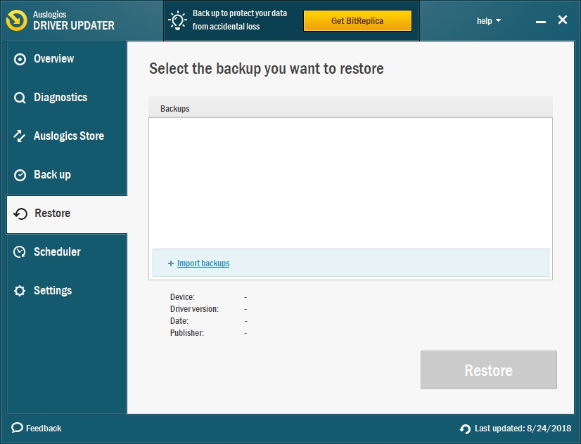 Back up what you need before updating your drivers.