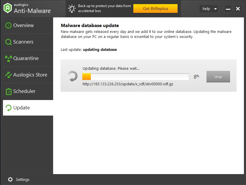 You should regularly update your malware database.