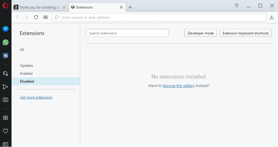 Disable your extensions in Opera.