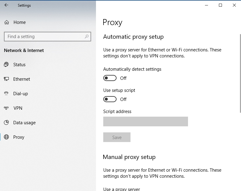 Disable your Proxy options.