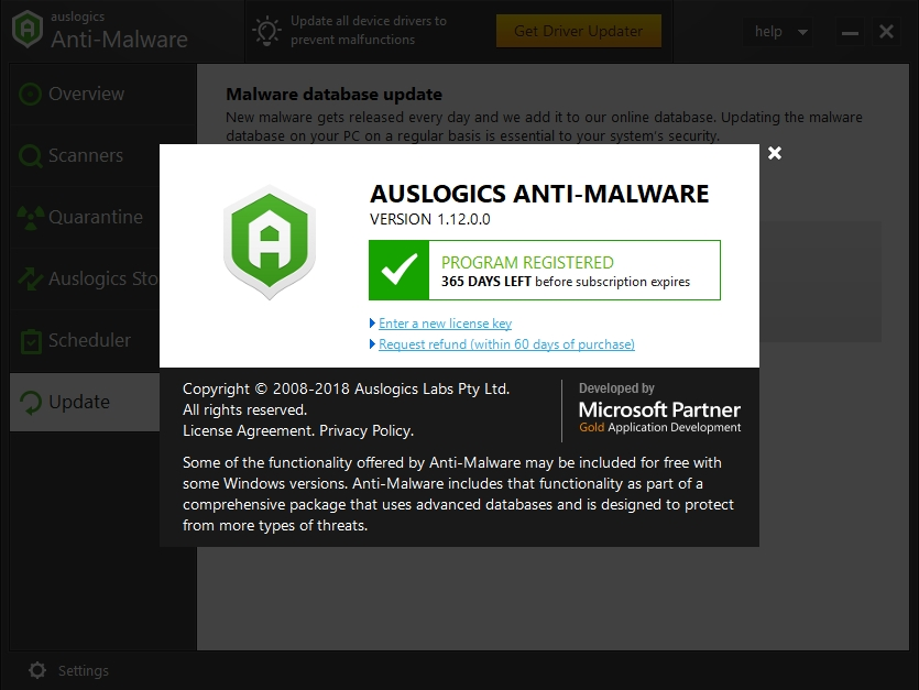 Protect your data with Auslogics Anti-Malware.