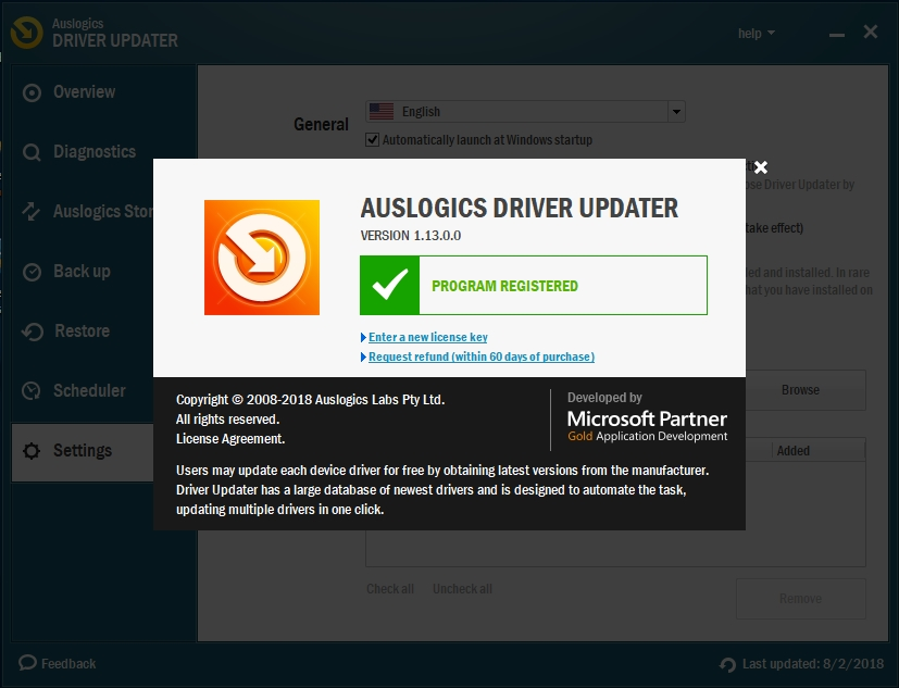 Register Auslogics Driver Updater to fix all your drivers.