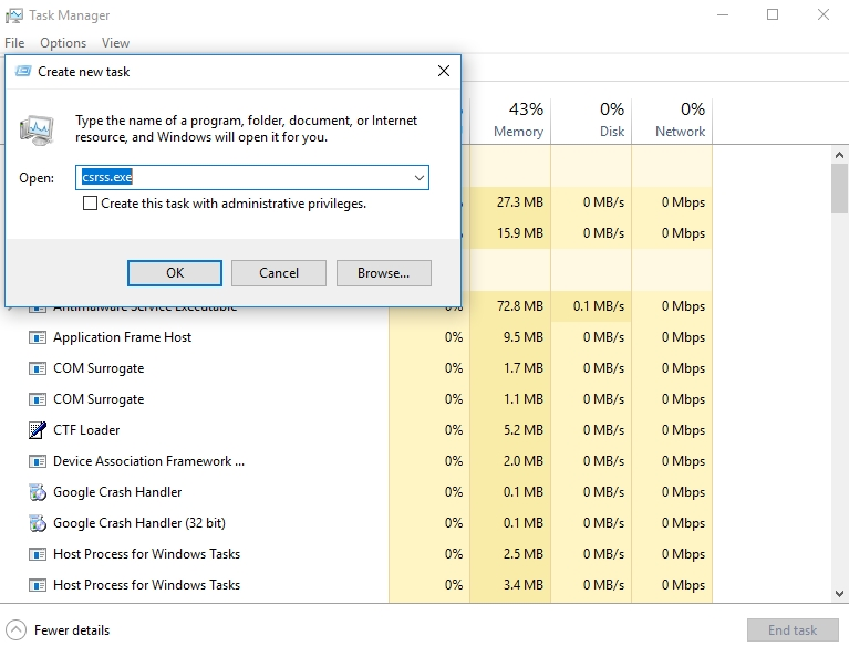 Client Server Runtime Process is a process running in the background within Windows
