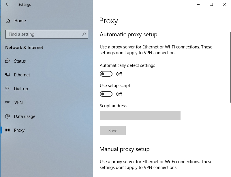 Disable your proxy settings.