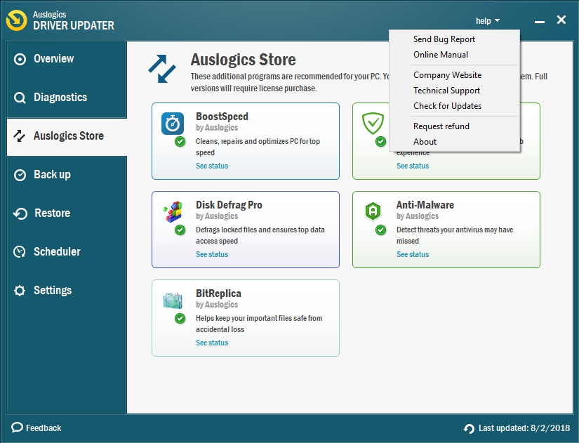 Auslogics Driver Updater is extremely easy to use.
