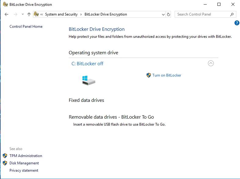 Encrypt your data on Windows with Bitlocker.