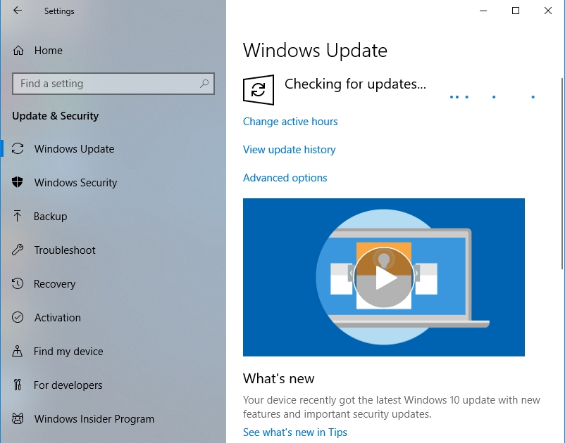 Check if there are any available updates for your PC.