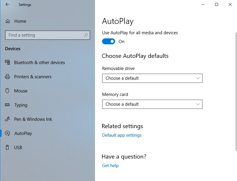 Configure AutoPlay to suit your needs.