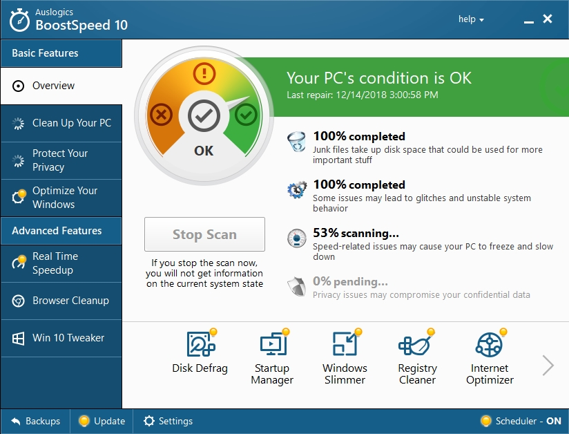 MAke sure your PC's condition is OK.