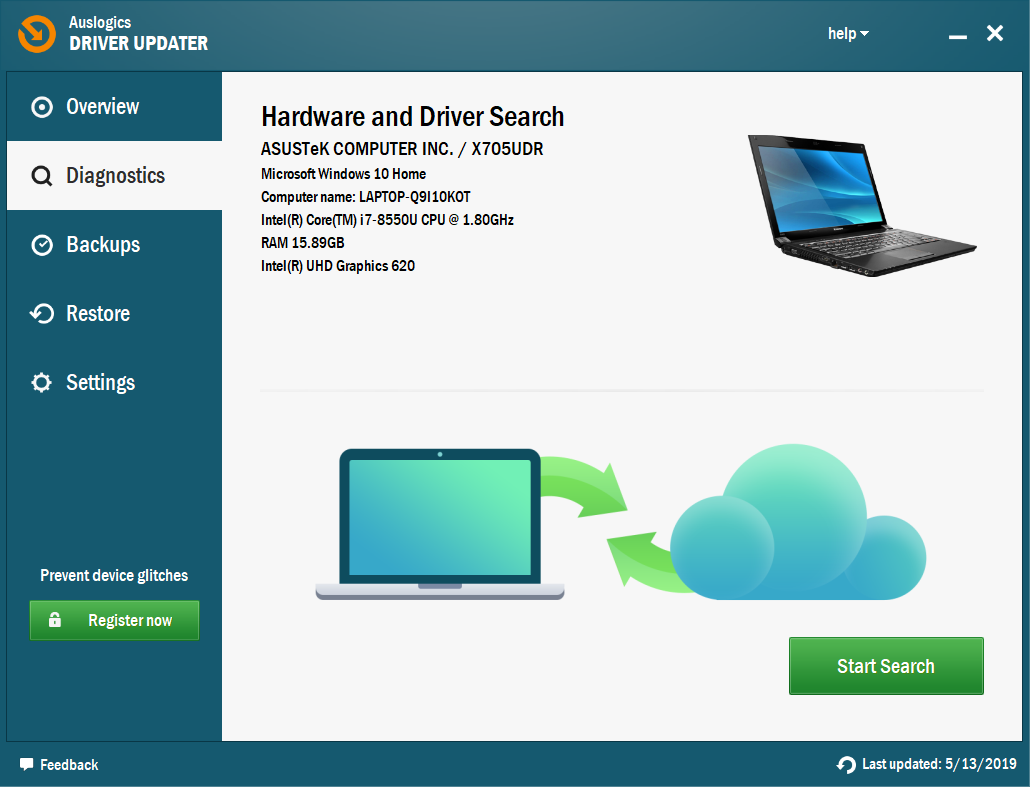 Auslogics Driver Updater will scan your PC for driver issues.