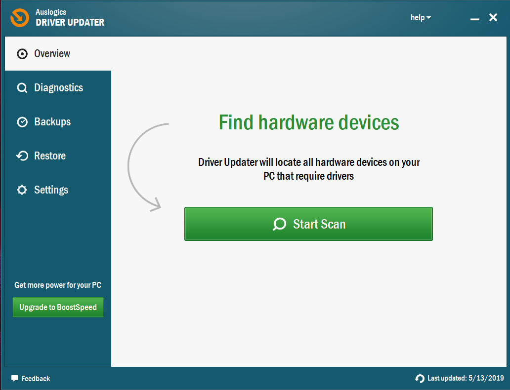 The tool will run a comprehensive scan on your PC.