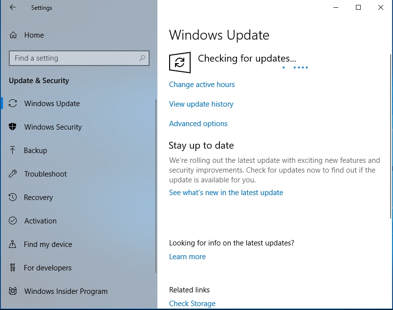 Make sure you install available updates.