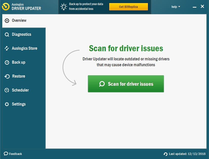 Click on the Scan for driver issues button to check your drivers.
