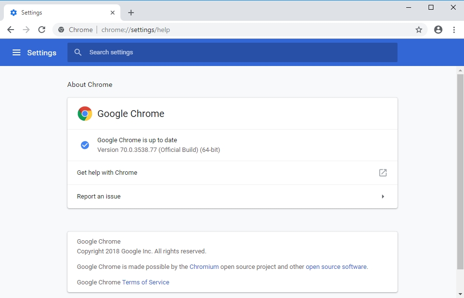 Make sure your Chrome is up to date.