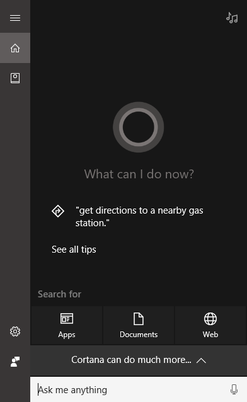 Cortana can answer your questions.