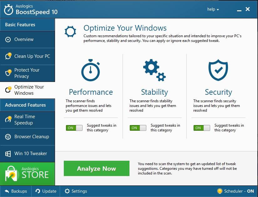 Optimize your PC to improve its performance.