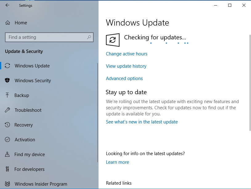 Force your OS to check for updates.
