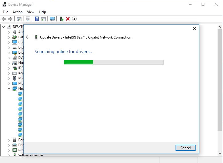 Use Device Manager to search for teh necessary drivers online